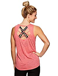 RBX Active Women's Open Back Flowy Workout Yoga Tank Top S-19 Coral S