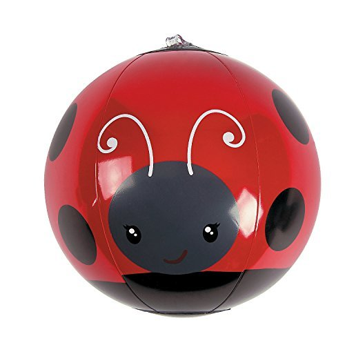 Ladybug Party Supplies (Fun Express Mini Inflatable Ladybug Beach Balls - 12 Piece)