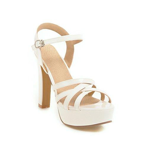 sandali sandali ai dei impermeabile alti e alla sandali white tacchi dei tavoli 37 signore moda i sandali sandali q1nwx8CvW