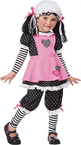 Girls Rag Dolly Kids Child Fancy Dress Party Halloween Costume, S (Rag Dolly Toddler Girls Costumes)