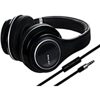 SGIN Over Ear Headphones Professional Wired Hifi Stereo Headphones with Microphone and Volume Control for PC,Computer,Phone(Black)