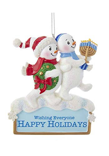 Kurt Adler Resin Hanukkah Snowman Ornament 4