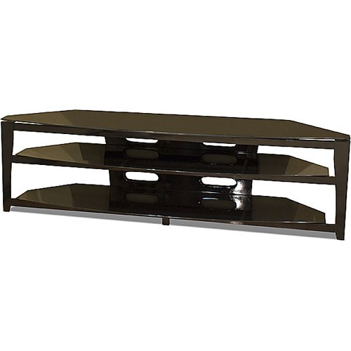 nch Wide Flat Panel TV Stand - Black (Tech Craft Wood Finish Tv Stand)