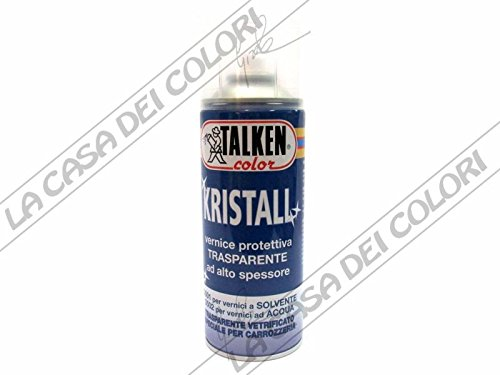 TALKEN - SPRAY - KRISTALL - 400 ml - PROTETTIVO TRASPARENTE PER VERNICI SOLVENTE Talken Color