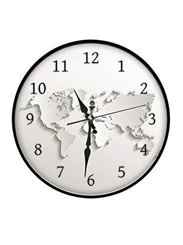 0bf8eb4005d Buy 999Store Printed World map Wall Clock Online at Low Prices in India -  Amazon.in