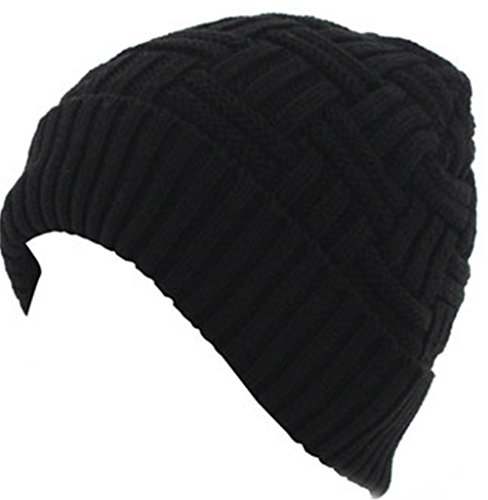 BIGTHING Winter Hat for Men Knitting Wool Warm Hat Daily Slouchy Beanie Skull Cap - With Large Heads Men