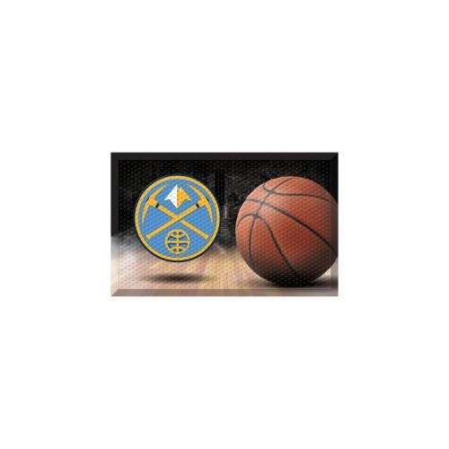 FANMATS 19076 Team Color 19'' x 30'' Denver Nuggets Scraper Mat (NBA Ball) by Fanmats