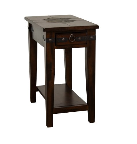 Sunny Designs Santa Fe End Table in Dark Chocolate For Sale