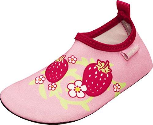 Playshoes Badeslipper, Badeschuhe Erdbeere, Zapatillas Impermeables Unisex Niños Pink (Rosa)