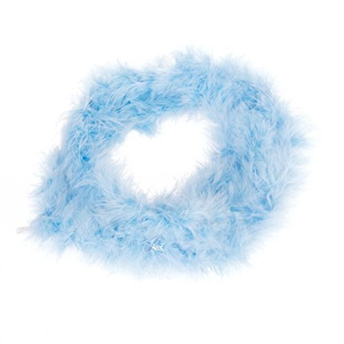 MA-on 2 Meter Long Feather Boa Fluffy Craft Decoration (Light Blue)
