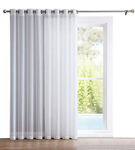 Cheap  HLC.ME One Panel Extra Wide Semi Sheer Voile Patio Door Grommet Curtain..