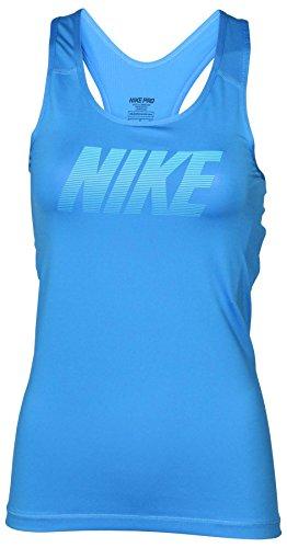 Nike Women's Dri-Fit Pro Hypercool Training Tank Top-Gamma Blue-Large