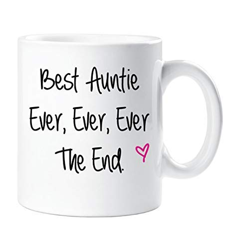 Best Auntie Ever Ever Ever The End Mug Mothers Day Gift Cup Ceramic Christmas Birthday
