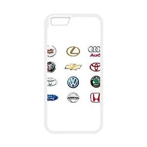 12 AUTOMÓVIL LOGOS VECTOR para el funda iPhone 6s 4,7 pulgadas funda del teléfono celular de cubierta blanca