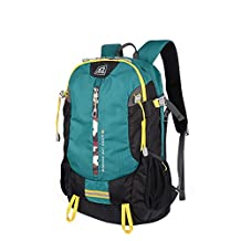 """XSY Outside Riding Backpack Large Capacity Rucksack Waterproof Travel Daypack Bag for 14"""" and 15.6"""" Inch Laptop Storing Wear Resistant Color Aqua"""