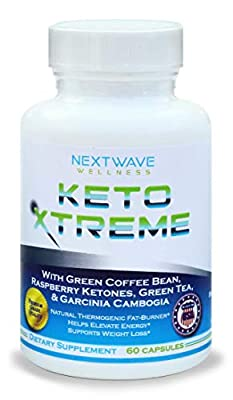 Keto Diet Pills - Natural Fat Burner, Keto Xtreme Weight Loss & Energy Boost Supplement for Men and Women with Green Coffee Bean, Raspberry Ketones, Garcinia Cambogia, 60 Capsules with Free Ebook