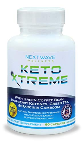 Keto Xtreme - Ketogenic Diet Pills (60 Capsules)-Natural Fat Burner, Weight Loss & Energy Boost Supplement for Men and Women - with Green Coffee Bean, Raspberry Ketones, Garcinia Cambogia + Free Ebook
