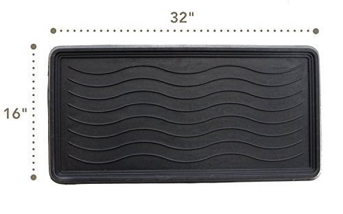MILLIARD Large Rubber Boot Tray and Mudroom Doormat, 32x16