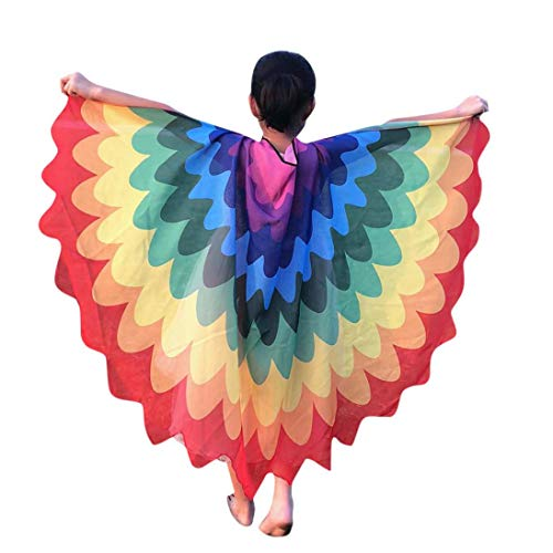 Forthery Butterfly Wings Costume Play Cartoon Butterfly Wings for Kids, Perfect for Halloween Costumes, Garden Parties, Birthday Favors(Medium, Multi)