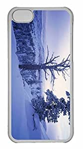 LJF phone case iPhone 5C Case, Personalized Custom Winter Scenery 7 for iPhone 5C PC Clear Case
