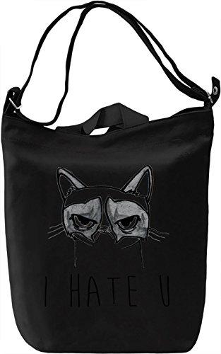 Grumpy Hates You Borsa Giornaliera Canvas Canvas Day Bag| 100% Premium Cotton Canvas| DTG Printing|