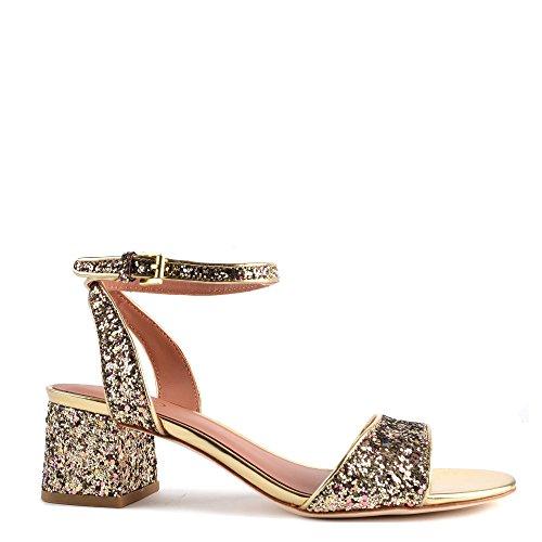 Ash Schuhe Opium Gold Sandalen aus Leder Damen Gold