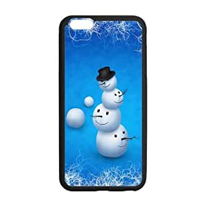 iPhone6 Plus 5.5 Case,Merry Christmas Cute Snowman Christmas Gift Design Cover With Hign Quality Rubber Plastic Protection Case