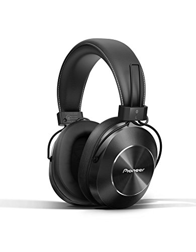 Pioneer Bluetooth and High-Resolution Over Ear Wireless Headphone, Black SE-MS7BT-K