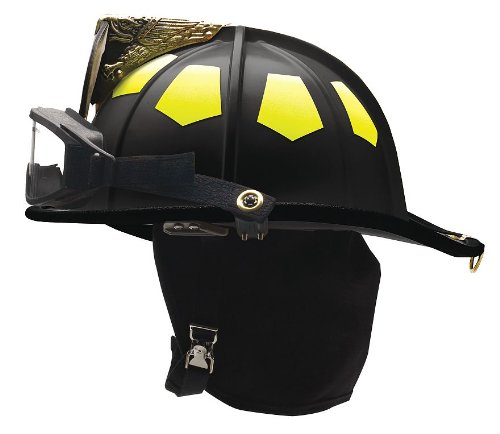 Fire Helmet, Black, Traditional ()