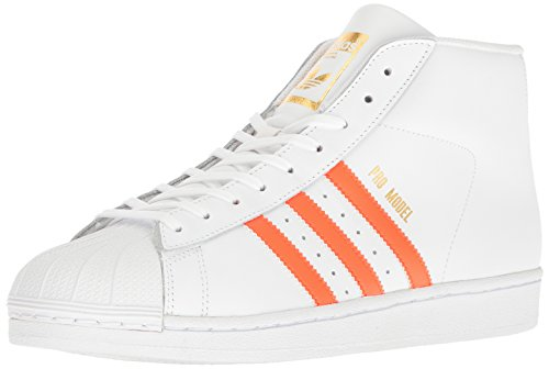Adidas Herren Promodel Wei? High-top / Orange Or (blanc