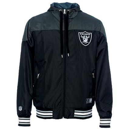 Majestic Oakland Raiders si cortavientos con capucha NFL ...