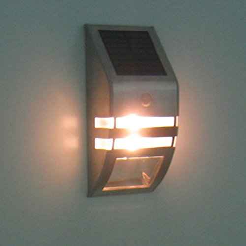 Solar Powered 2 Led Outdoor Fence Light