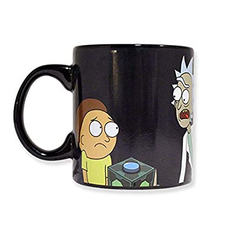 86517fa0265 Official Rick and Morty Heat Changing Ceramic Coffee Mug/Cup with Black  Base color Set of 1, 20oz, GIFTS - Tea Cups/Coffee Mugs