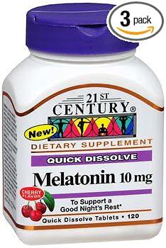 Amazon.com: 21st Century Melatonin 10 mg Quick Dissolve Tablets ...