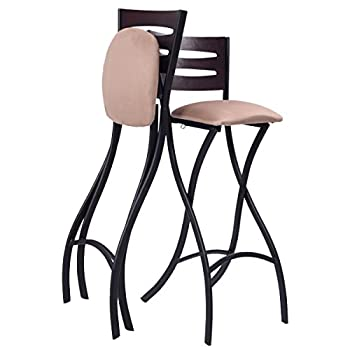 Costway Set Of 2 Folding Counter Bar Stools Bistro Dining Kitchen Pub Chair Furniture, 29.9""
