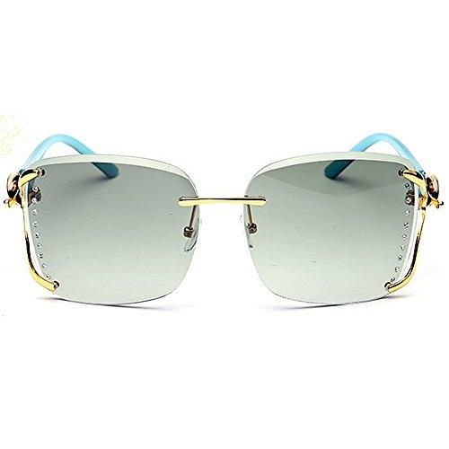UV cadre sans décoration soleil classique femmes de de gracieux de de Lunettes cool de Joo soleil de de délicates carrées renard les pour lunettes soleil soleil Green de cool lunettes protection lunettes de 6xwSZIqnR