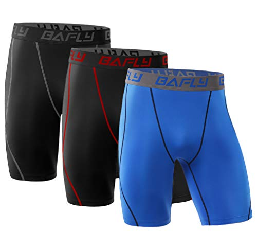 Bafly Men's Compression Shorts Cool Dry Athletic Tights