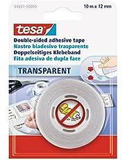 tesa 64621-00000-04 Dubbelzijdig plakband, transparant, 10m:12mm