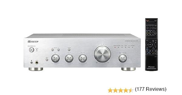 Pioneer A-20-S - Amplificador estéreo (140 W, Botones táctiles ...