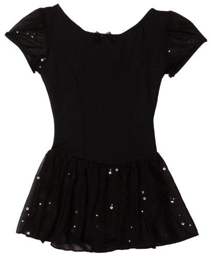 Capezio Little Girls Sequined Puff Sleeve Dress