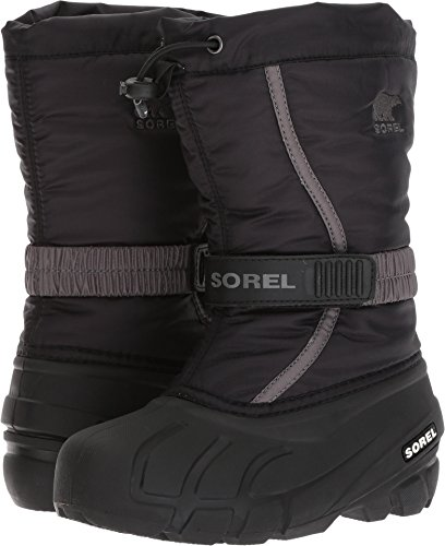 Sorel - Youth Unisex Flurry Shell Boot, Size: 5 M US Big Kid, Color: Black/City Grey