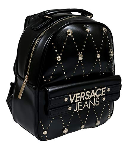 (Versace EE1VSBBE7 E899 Black Backpack for Womens)