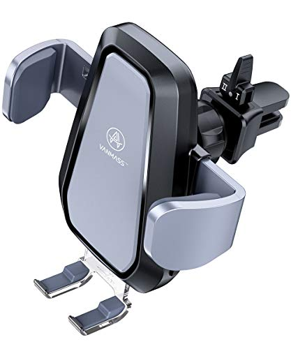 VANMASS Qi Wireless Car Charger Mount, Automatic Clamping, 10W/7.5W Fast Charging, Air Vent Motorized Cell Phone Holder for Car Compatible with iPhone Xs Max XR 8 Plus, Samsung S10 S9 - Wireless Large Holder