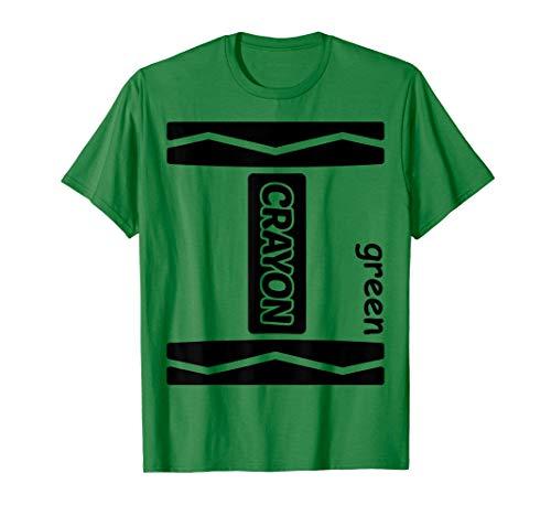 (Green Crayon Halloween Couple Friend Group Costume)