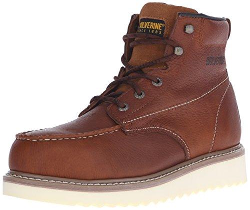 Wolverine Men's W08289 Steel Toe Boot,Honey,12 XW (Brown Moc Toe Wedge Heel)