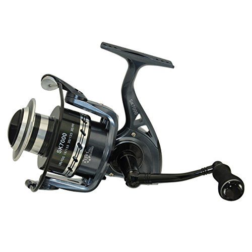 Supertrip Metal Saltwater freshwater High Speed Fishing Reels Spinning reel Size SK7000 (Ocean Master Casting)