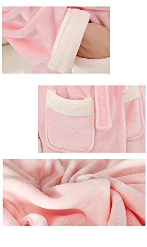 Termica Larga Pijamas Cinturón Modernas Espesar Otoño Casual Cómodo Batas De Rosa V Con Elegantes Hombre Mujer Pareja Bolsillos Ropa cuello Dormir Albornoz Manga Invierno Unisex Moda Camisones yqcw4aO1WY