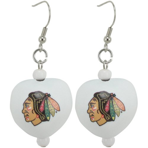 - NHL Chicago Blackhawks Ladies Kukui Earrings - White