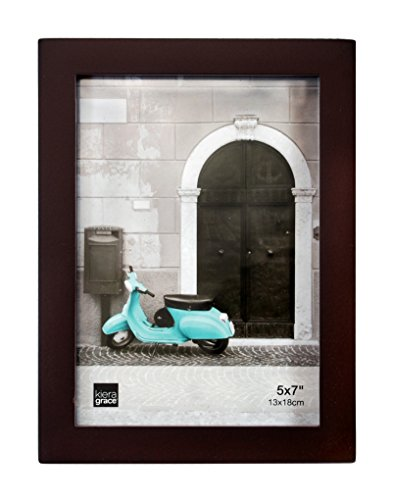 Kiera Grace Contempo Wood Picture Frame, 5 by 7-Inch, Espres
