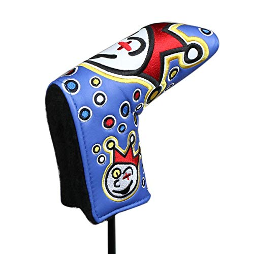 HAIYUE Joker Golf Head Cover Blade Putter Club Headcovers PU Leather Embroidered Fit All Brands Gift Accessories for Men Women - Putter Masters